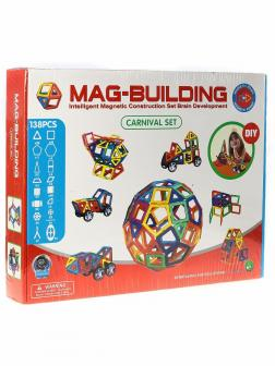 Магнитный конструктор MAG-BUILDING / 138 деталей