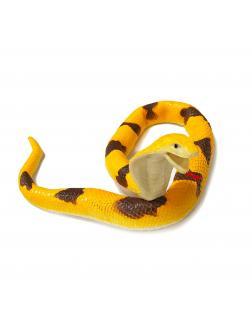 Игрушка-тянучка «Змея: Азиатская Королевская Кобра» 40 см., А034P / Желтая