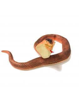 Игрушка-тянучка «Змея: Королевская кобра» 100 см., A034P / Коричневая
