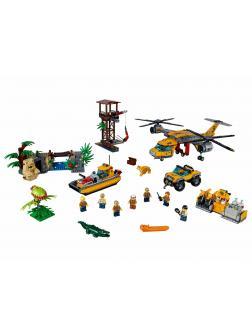 Конструктор Bl «Вертолёт для доставки грузов в джунгли» 10713 (City 60162) / 1298 деталей