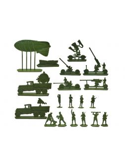 Солдатики Воины и Битвы «Большой набор ПВО 1941» 1:32 / Хаки