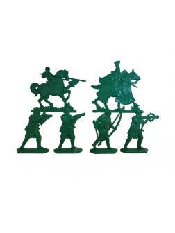 Набор солдатиков «Барон Аделин» 1513000 / Зеленый