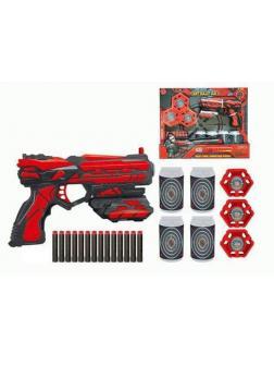 Набор игровой Бластер с аксессуарами и мягкими снарядами 14 шт. FJ901 / Junfa