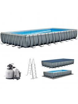 Каркасный бассейн Ultra XTR Frame 975х488х132см, 54368л, комб.фил.-нас. 10000л\ч, лестн, тент, подст