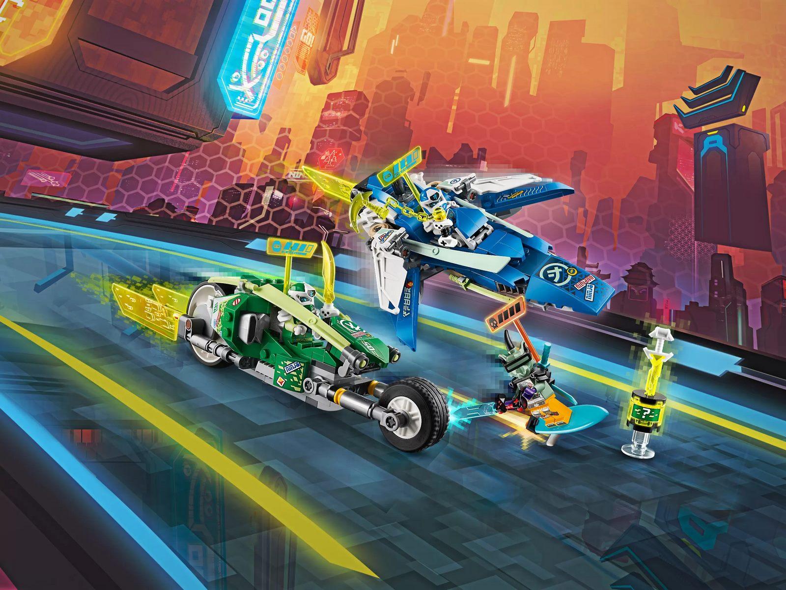 Конструктор Lari «Скоростные машины Джея и Ллойда» 11486 (Ninjago 71709) 340 деталей