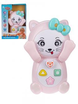 Детская развивающая игрушка Play Smart  7828 Телефон «Ау, Котик» / Розовый