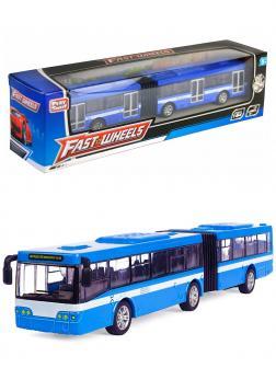 Инерционный автобус-гармошка Play Smart 1:64 «ЛиАЗ-6213» 18 см. 6576 Автопарк / Голубой