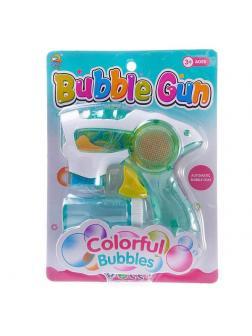 Мыльные пузыри Junfa Пистолет полупрозрачный на батарейках
