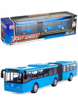 Инерционный автобус-гармошка Play Smart 1:64 «ЛиАЗ-6213» 18 см. 6576 Автопарк / Синий