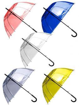 Зонт детский со свистком прозрачный купольный 60 см