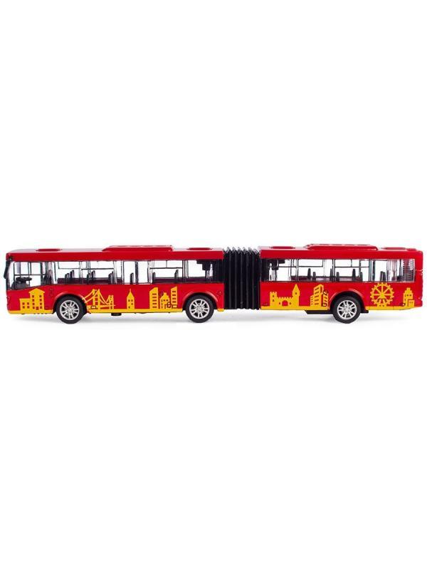Инерционный автобус-гармошка Play Smart 1:64 «ЛиАЗ-6213» 18 см. 6576 Автопарк / Красный