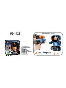 Игра интерактивная Junfa Попади в робота с 2 бластерами и 24 мягкими шариками