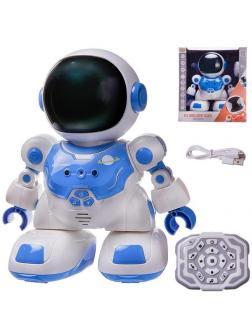 Робот на радиоуправлении JUNFA Астронавт с пультом управления, синий