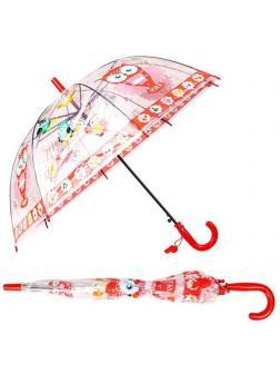 Зонт детский Совы с прозрачным куполом 50 см