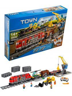 Конструктор «Мощный грузовой поезд» 40022 (City 60098) 1033 детали