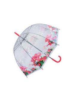 Зонт детский Цветы прозрачный купольный 60 см