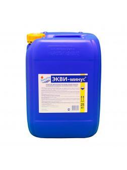 ЭКВИ-МИНУС, 20л(25кг) канистра, жидкость для понижения уровня рН воды