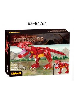 Конструктор Junfa Linoos «Земля динозавров: Тираннозавр» LN7013 / 133 детали