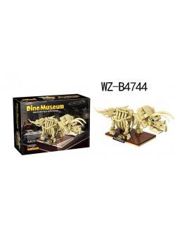 Конструктор Junfa Linoos «Дино музей. Скелет Трицераптора» LN7001 / 173 детали