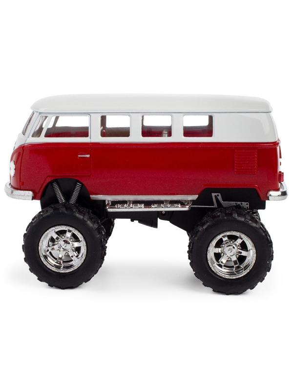 Металлическая машинка Kinsmart 1:32 «1962 Volkswagen Classical Bus (Off Road)» KT5060DB инерционная / Микс
