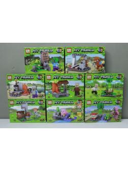 Конструктор PRCK 8в1 «Ранчо» (Minecraft) 63062 / Комплект