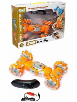 Машинка-перевёртыш «Drift Twist Tribe» 25 см, с управлением жестами гиропультом, свет и звук 9166 / Оранжевый