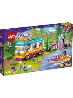 Конструктор LEGO Friends «Лесной дом на колесах и парусная лодка» 41681 / 487 деталей
