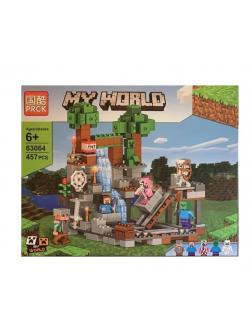 Конструктор PRCK «Бой у водопада» 63064 (Minecraft) 457 деталей