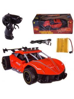 Машинка на радиоуправлении Abtoys гоночная 2,4Ггц, резиновые колеса, аккумуляторный блок, красная-3 1:18
