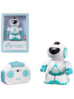 Робот JUNFA с пультом на ИК-управлении, со световыми эффектами, мини, белый 13,5х9,5х6 см