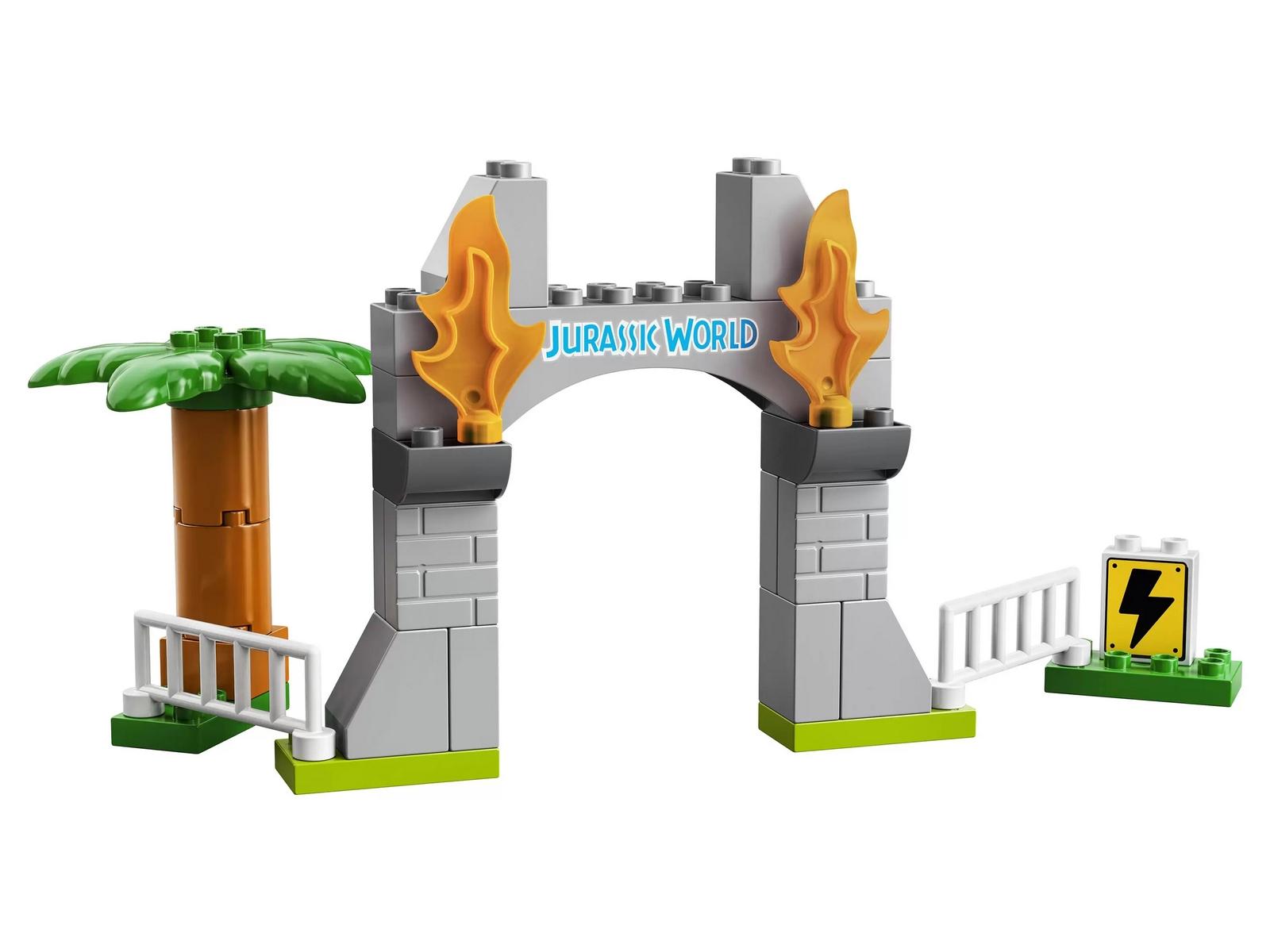 Конструктор LEGO Duplo «Побег динозавров: тираннозавр и трицератопс» 10939 / 36 деталей