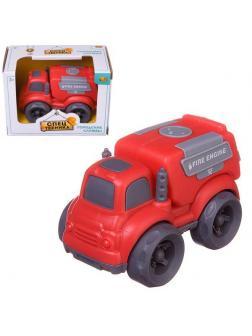Машинка ABtoys Спецтехника Пожарная машина, фрикционная, 10х7х8см