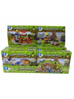 Конструктор Zhe Gao «Ферма у реки» QL0566 (Minecraft) комплект 4 шт.