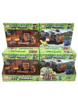 Конструктор PRCK 4в1 «Подземелье» 63063 (Minecraft) комплект 4 шт.