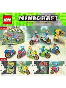 Конструктор LEBQ «Герои на мотоциклах» 1892-1 (Minecraft) комплект 8 шт.