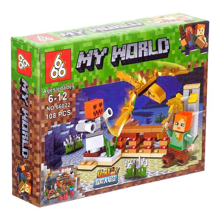 Конструктор 666 4в1 «На Ферме» 66022 (Minecraft) комплект 4 шт.