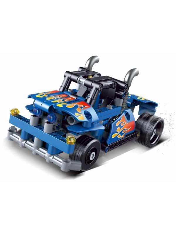 Конструктор Decool «Гоночный грузовик» с инерционным механизмом 3815 Technic / 206 деталей