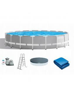 Каркасный бассейн Prism Frame 610х132см, 32695л, фил.-насос 5678л\ч, лестница, тент, подстилка