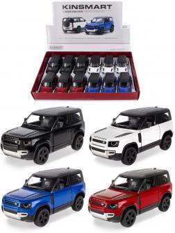 Металлическая машинка Kinsmart 1:36 «Land Rover Defender 90» KT5428D, инерционная / Микс