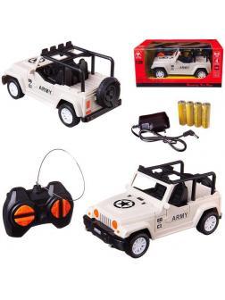 Машинка на радиоуправлении Junfa световые эффекты, белая, 20х13х10 см, 1:28