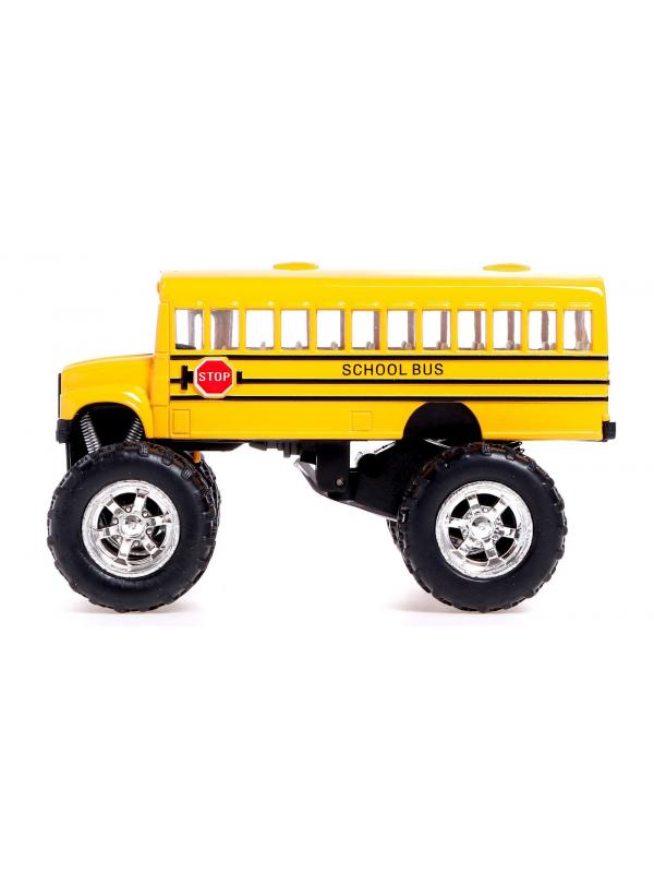 Металлическая машинка KinsFun «School Bus Big Wheel» KS5108D, инерционная