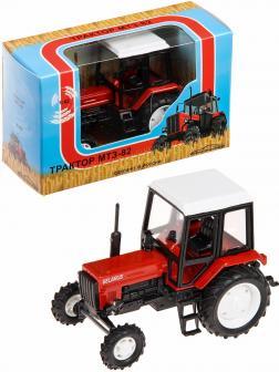 Металлическая модель трактора 1:43 «Люкс-2 МТЗ-82 Belarus» 160364 Красный / Белый
