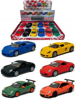 Металлическая машинка Kinsmart 1:36 «Matte Porsche» KT5071D, инерционная / Микс