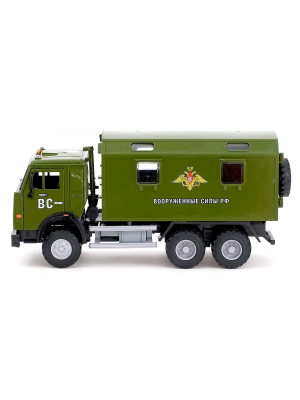 Грузовик инерционный Play Smart 1:24 «Камаз 6520: Вооруженные силы РФ» 9119-D Автопарк, свет и звук