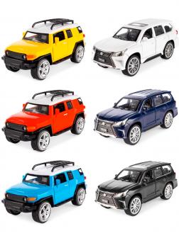 Металлическая машинка Die Cast 1:36 «Toyota FJ Cruiser / Lexus LX570» 53522-5A свет и звук, инерционная / Микс