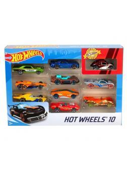 Набор машинок Mattel Hot Wheels Подарочный 10 машинок