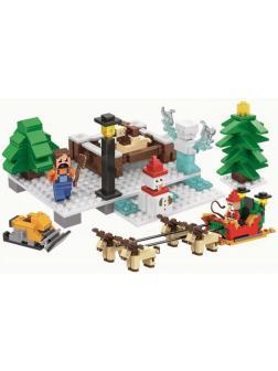 Конструктор Jemlou «Прогулка на санях» 20068 (Minecraft) 375 деталей
