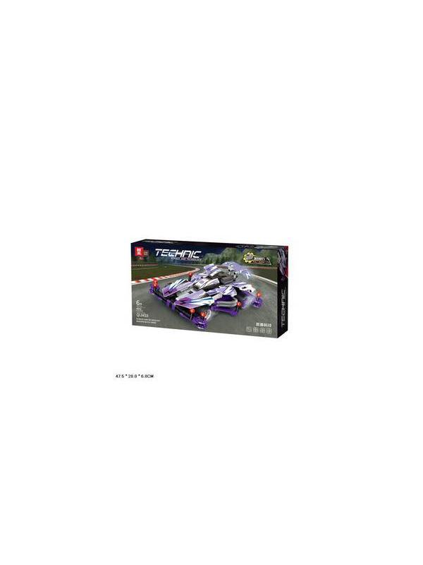Конструктор Zhe Gao «Экстремальные гонки: Фиолетовая стрела» QL0433 / 492 детали