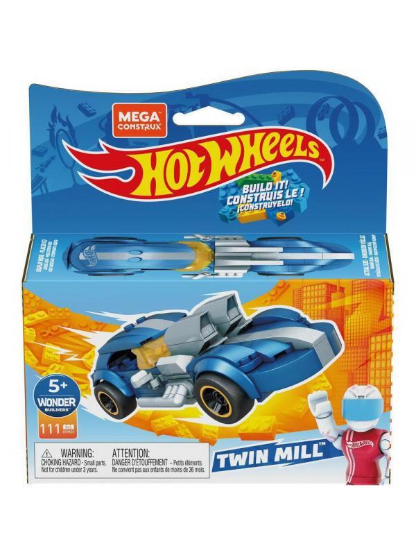 Игровой набор Mattel Hot Wheels Mega Construx Гоночные машинки, 4 вида