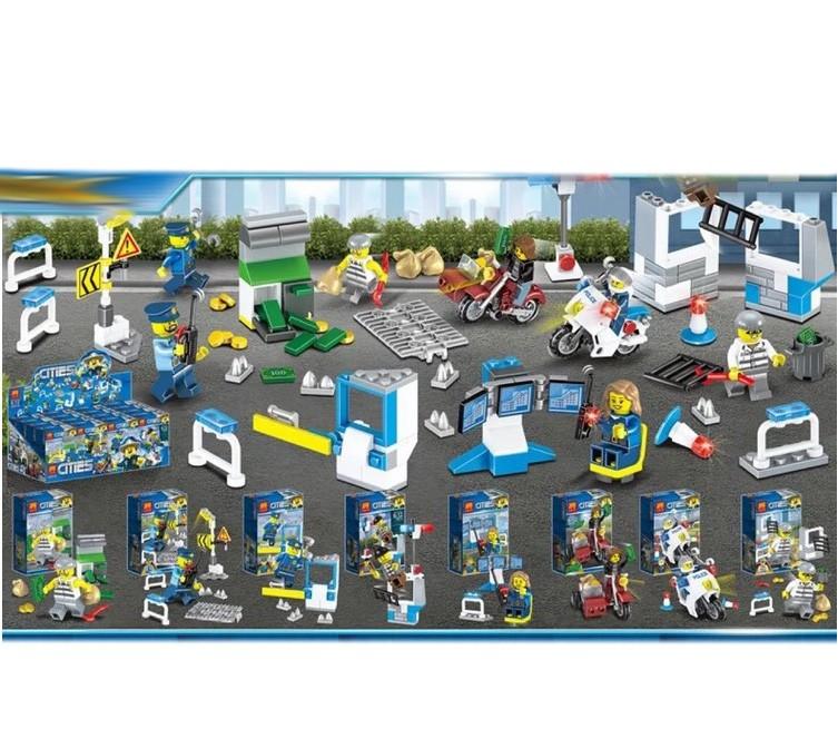 Набор Ll Сити 28019 (Совместимый с ЛЕГО), 8 фигурок в отдельных коробках